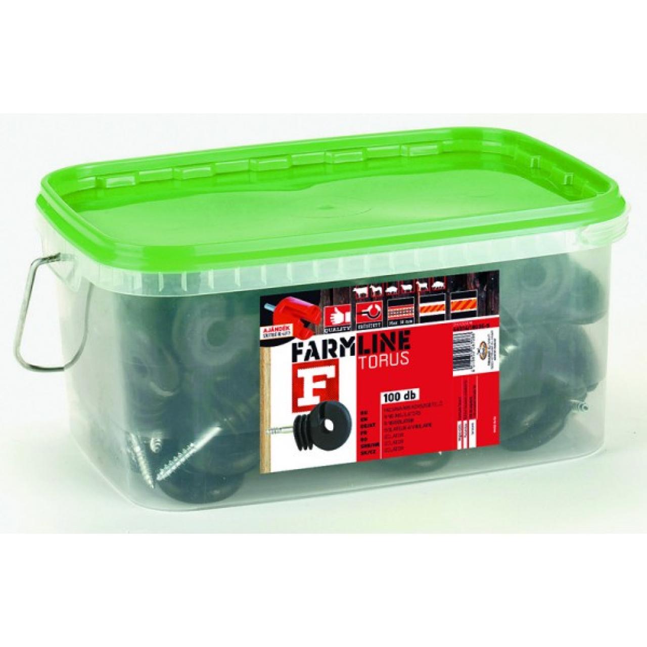 FarmLine Torus F facsavaros szigetelő vezetékhez 100 db + szigetelő behajtó