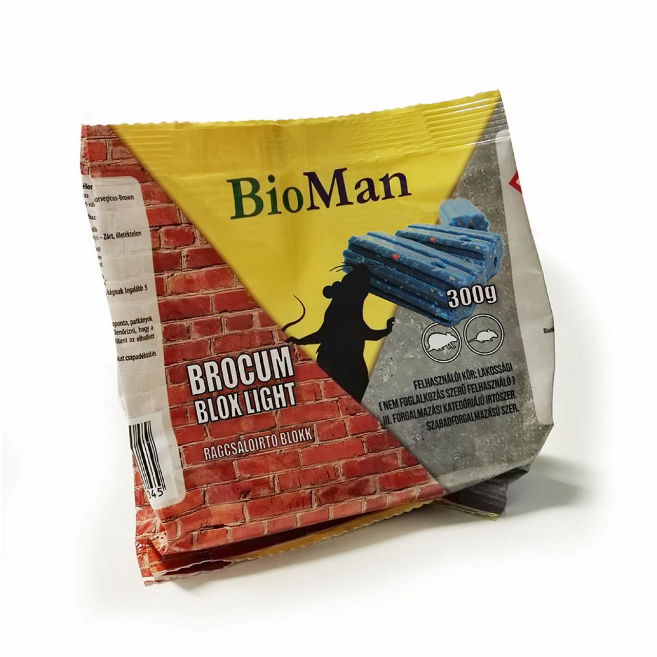 Brocum Blox light, rágcsálóírtó blokk, 25ppm 300 g