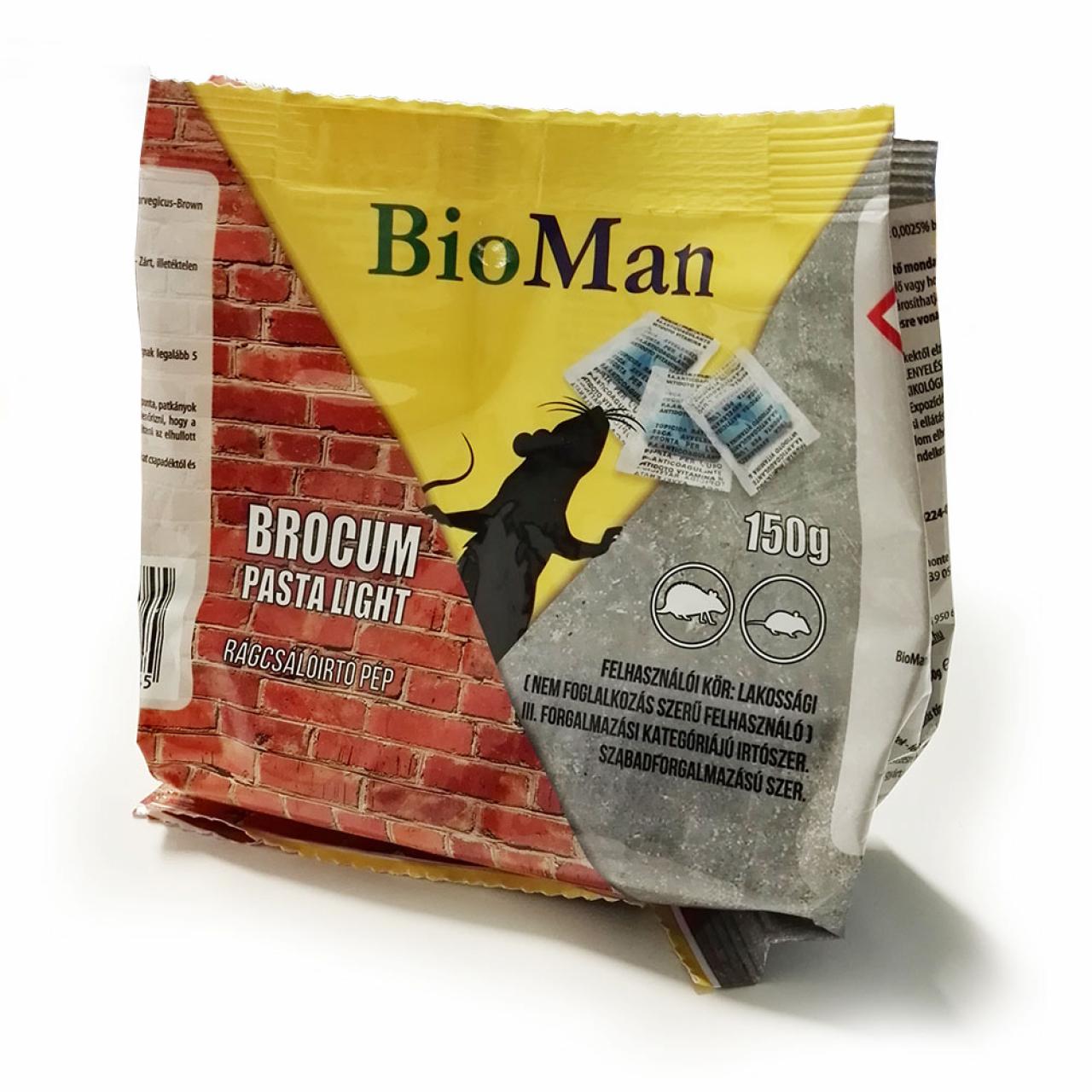 Brocum Pasta light, rágcsálóírtó paszta, 25ppm 150 g
